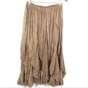 Vintage Anne Giorgio Boho Gypsy Maxi Skirt XL